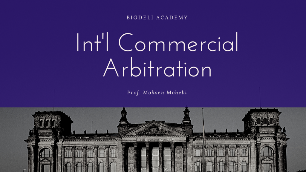 Int'l Commercial Arbitration (Teaser No.1)